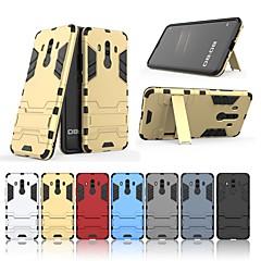Недорогие Чехлы и кейсы для Huawei Mate-Кейс для Назначение Huawei Mate 10 pro Защита от удара / со стендом Кейс на заднюю панель Однотонный / броня Твердый ПК для Mate 10 pro