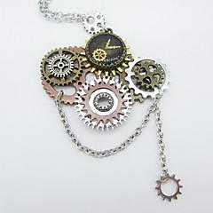 preiswerte Halsketten-Damen Statement Ketten - Ausrüstung Erklärung, Steampunk Cool Silber 56+5 cm Modische Halsketten Schmuck 1pc Für Karnival, Professionell