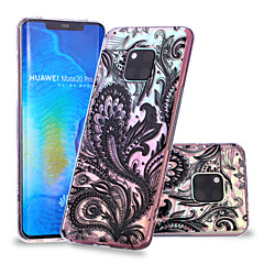 Недорогие Чехлы и кейсы для Huawei Mate-Кейс для Назначение Huawei Huawei Mate 20 Lite / Huawei Mate 20 Pro С узором Кейс на заднюю панель Кружева Печать Мягкий ТПУ для Huawei Nova 3i / P smart / Huawei P Smart Plus