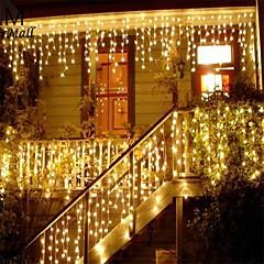 preiswerte LED Lichtstreifen-4 * 0.5M Leuchtgirlanden 96 LEDs Warmes Weiß / Mehrfarbig 220-240 V 1 set
