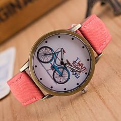 お買い得  レディース腕時計-女性用 リストウォッチ クォーツ 本革 ベルト素材 ブラック / 白 / ブルー カジュアルウォッチ かわいい ハンズ レディース ファッション 多色 - レッド グリーン ピンク