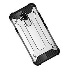 Недорогие Чехлы и кейсы для LG-Кейс для Назначение LG LG V40 / G7 Защита от удара Кейс на заднюю панель броня Твердый ПК для LG V40 / LG G7 / LG G6