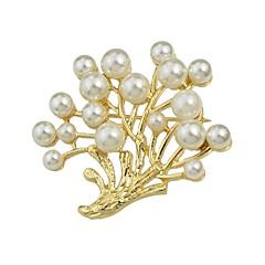 お買い得  ブローチ-女性用 真珠 ブローチ  -  真珠 シンプル, ベーシック ブローチ ゴールデン 用途 デート / ワーク