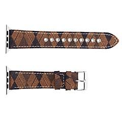 お買い得  メンズ腕時計-本革 時計バンド ストラップ のために Apple Watch Series 4/3/2/1 ブラック / ブルー / ブラウン 23センチメートル / 9インチ 2.1cm / 0.83 Inch