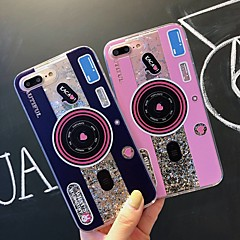 Недорогие Кейсы для iPhone-Кейс для Назначение Apple iPhone XR / iPhone XS Max Защита от удара / Движущаяся жидкость / Прозрачный Кейс на заднюю панель Плитка / Сияние и блеск Мягкий ТПУ для iPhone XS / iPhone XR / iPhone XS