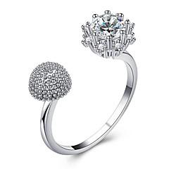 preiswerte Ringe-Damen Kubikzirkonia Retro Stulpring Öffne den Ring - Blume Modisch, Elegant Verstellbar Gold / Silber / Rotgold Für Hochzeit Party