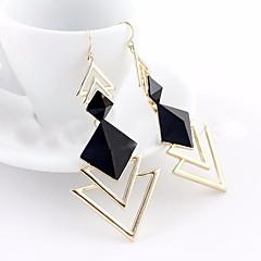 preiswerte Ohrringe-1 Paar Damen Geometrisch Ohrringe baumeln - damas Stilvoll Geometrisch Elegant Schmuck Schwarz / Blau / Rosa Für Party Arbeit