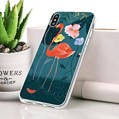 Недорогие Кейсы для iPhone-Кейс для Назначение Apple iPhone XS Max Защита от пыли / Ультратонкий / С узором Кейс на заднюю панель Фламинго Мягкий ТПУ для iPhone XS Max / Meizu Pro 5