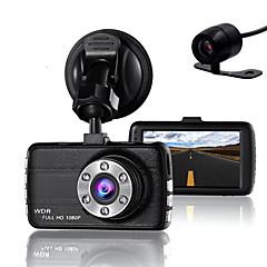 billige Autotilbehør-dobbelt linse dash cam kamera dvr bil til drivere fuld HD 1080 p optager kamera med nat vision g-sensor