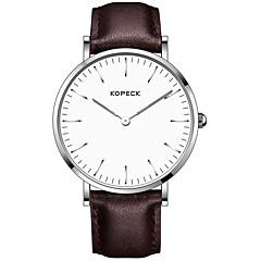 preiswerte Herrenuhren-Kopeck Kleideruhr Armbanduhr Sender Wasserdicht, Neues Design, Armbanduhren für den Alltag Schwarz / Kaffee / Braun / Japanisch / Echtes Leder / Japanisch