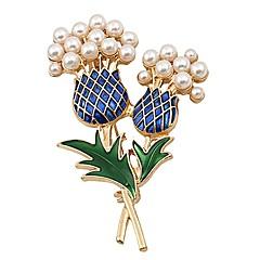 お買い得  ブローチ-女性用 ブローチ  -  人造真珠 パイナップル アーティスティック, シンプル ブローチ ゴールド 用途 日常