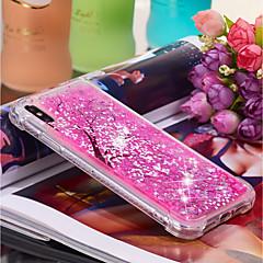 Недорогие Кейсы для iPhone-Кейс для Назначение Apple iPhone XR / iPhone XS Max Движущаяся жидкость / С узором Кейс на заднюю панель Цветы Мягкий ТПУ для iPhone XS / iPhone XR / iPhone XS Max