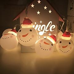 お買い得  LED ストリングライト-2m ストリングライト 10 LED 温白色 装飾用 単3乾電池 1セット