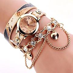 preiswerte Damenuhren-Damen Armbanduhr Quartz Armbanduhren für den Alltag lieblich Imitation Diamant PU Band Analog Freizeit Modisch Rot / Orange / Grün - Gelb Rot Grün Ein Jahr Batterielebensdauer
