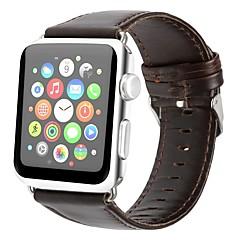 preiswerte Herrenuhren-Echtleder Uhrenarmband Gurt für Apple Watch Series 4/3/2/1 Braun 23cm / 9 Zoll 2.1cm / 0.83 Inch