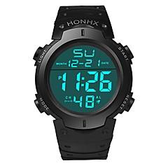 preiswerte Digitaluhren-Herrn Sportuhr Japanisch digital 30 m Wasserdicht Alarm Kalender Silikon Band digital Modisch Schwarz - Schwarz Schwarz / Blau