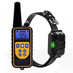 abordables Collares, Arneses y Correas para Perros-Perros Cuello / Entrenamiento Antiladrido / Eléctrico / LCD Clásico Metalic / El plastico Negro