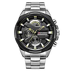 preiswerte Herrenuhren-LONGBO Herrn Kleideruhr Armbanduhr Japanisch Japanischer Quartz 30 m Wasserdicht Cool Edelstahl Band Analog Modisch Silber - Weiß Schwarz