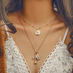 お買い得  ネックレス-女性用 レイヤード レイヤードネックレス  -  欧風, トレンディー, ビキニ かわいい ゴールド 41 cm ネックレス ジュエリー 1個 用途 お出かけ, バレンタイン