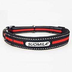 お買い得  犬用首輪/リード/ハーネス-犬用 カラー 反射 / 高通気性 / サイズが調整できます。 クラシック / ブリティッシュ ナイロン / 合金 レッド