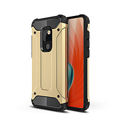 Недорогие Чехлы и кейсы для Huawei Mate-Кейс для Назначение Huawei Huawei Mate 20 Pro / Huawei Mate 20 Защита от удара Кейс на заднюю панель броня Твердый ПК для Mate 10 pro / Mate 10 lite / Huawei Mate 20 lite