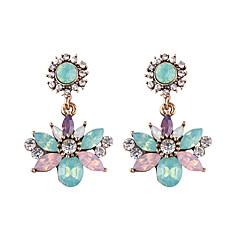 preiswerte Ohrringe-Damen Kubikzirkonia Vintage Stil Tropfen-Ohrringe - Blume Luxus, Retro Weiß / Grau / Blau Für Party / Abend Festival