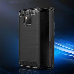 Недорогие Чехлы и кейсы для Huawei Mate-Кейс для Назначение Huawei Huawei Mate 20 Pro / Huawei Mate 20 Рельефный Кейс на заднюю панель Однотонный Мягкий Углеродное волокно для Mate 10 / Mate 10 pro / Mate 10 lite