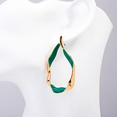 abordables Pendientes-Mujer Clásico Pendients de aro - Elegante, Diseño Único Dorado Para Diario