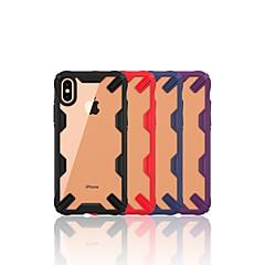 Недорогие Кейсы для iPhone 7 Plus-Кейс для Назначение Apple iPhone XR / iPhone XS Max Защита от удара / Прозрачный Кейс на заднюю панель Однотонный Мягкий ТПУ для iPhone XR / iPhone XS Max / iPhone X