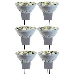 お買い得  LED 電球-SENCART 6本 5W / 80W 260lm MR11 LEDスポットライト MR11 15 LEDビーズ SMD 5060 装飾用 温白色 / クールホワイト 12V