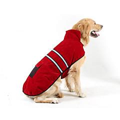 お買い得  犬用ウェア&アクセサリー-犬用 / 猫用 ダウンジャケット 犬用ウェア 縞柄 レッド 立ち毛メリヤス生地 コスチューム ペット用 男女兼用 普通 / レジャー