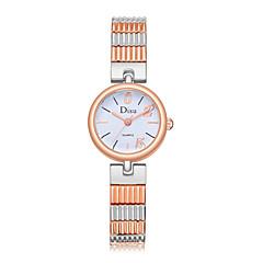 preiswerte Damenuhren-Damen damas Armbanduhr Quartz 30 m Wasserdicht Kreativ Edelstahl Band Analog Freizeit Modisch Silber / Rotgold - Silber Rotgold Rotgold / Weiß