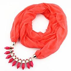 preiswerte Halsketten-Damen Lang Schal Halskette - Europäisch, Romantisch, Süß Niedlich Orange, Rot, Blau 180 cm Modische Halsketten Schmuck 1pc Für Neujahr, Geburtstag