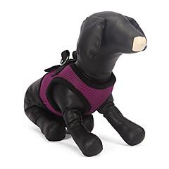 お買い得  犬用首輪/リード/ハーネス-犬 ハーネス 高通気性 繊維 / メッシュ ブルー / ピンク / 迷彩色