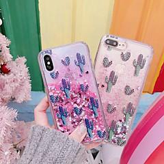 Недорогие Кейсы для iPhone 7-Кейс для Назначение Apple iPhone XR / iPhone XS Max Защита от удара / Движущаяся жидкость / Прозрачный Кейс на заднюю панель Растения / Сияние и блеск Твердый ПК для iPhone XS / iPhone XR / iPhone XS