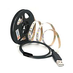 お買い得  LED ストリングライト-zdm 1pc 100センチメートル60×2835白smd led usb背景ストリップランプストライプスイッチdc5v