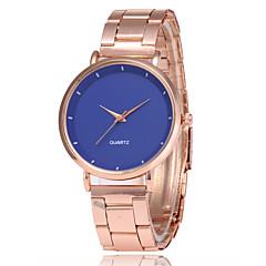 preiswerte Damenuhren-Damen Kleideruhr Armbanduhr Quartz Armbanduhren für den Alltag Legierung Band Analog Modisch Elegant Rotgold - Braun Blau Rosa