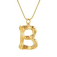 abordables Collares-Mujer Nombre Collares con colgantes - Forma de Alfabeto Moda Dorado, Plata 55 cm Gargantillas Joyas 1pc Para Regalo, Diario