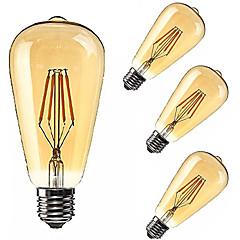 お買い得  LED 電球-KWB 2200 lm E26/E27 LEDボール型電球 ST64 4 LEDの COB 調光可能 装飾用 温白色 AC85-265V