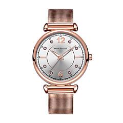 お買い得  レディース腕時計-女性用 リストウォッチ 日本産 クォーツ ブルー / シルバー / ゴールド 30 m 耐水 クロノグラフ付き 光る ハンズ レディース ぜいたく 光沢タイプ - コーヒー ブルー ローズゴールド 2年 電池寿命 / 模造ダイヤモンド