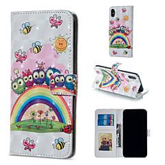 Недорогие Кейсы для iPhone 5-Кейс для Назначение Apple iPhone XR / iPhone XS Max Кошелек / Бумажник для карт / со стендом Чехол Сова Твердый Кожа PU для iPhone XS / iPhone XR / iPhone XS Max