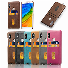 Недорогие Чехлы и кейсы для Xiaomi-Кейс для Назначение Xiaomi Redmi Note 5 Pro Бумажник для карт / Матовое Кейс на заднюю панель Однотонный Мягкий Кожа PU для Xiaomi Redmi Note 5 Pro / Redmi 6A