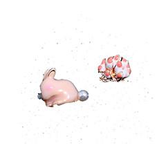 preiswerte Ohrringe-Damen Nicht übereinstimmend Unterschiedliche Ohrringe - Rabbit, Blume Koreanisch, Süß, nette Art Blau / Rosa Für Alltag Ausgehen