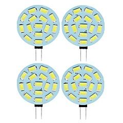 preiswerte LED-Birnen-SENCART 4pcs 2 W 210 lm G4 LED Doppel-Pin Leuchten T 15 LED-Perlen SMD 5730 Warmes Weiß / Kühles Weiß 12 V