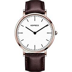 preiswerte Herrenuhren-Kopeck Kleideruhr Armbanduhr Sender Wasserdicht, Armbanduhren für den Alltag Schwarz / Kaffee / Braun / Japanisch / Echtes Leder / Japanisch