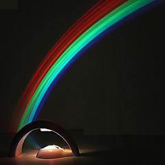 abordables Ofertas Especiales-creativo led colorido arco iris luces de la noche romántico arco iris proyector lámpara coway novia novela en particular pequeños regalos