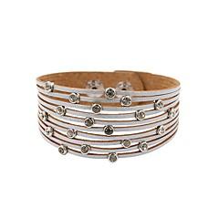 preiswerte Armbänder-Damen Schick Lederarmbänder - Leder Beiläufig / sportlich, Modisch Armbänder Beige / Grün / Blau Für Geschenk Alltag