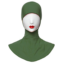 Недорогие Женские украшения-Жен. Классический Хиджаб - С разрезами Однотонный