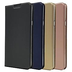 Недорогие Чехлы и кейсы для LG-Кейс для Назначение LG LG V40 / V30 Бумажник для карт / со стендом / Флип Чехол Однотонный Твердый Кожа PU для LG V40 / LG V30 / LG V20
