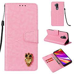 Недорогие Чехлы и кейсы для LG-Кейс для Назначение LG G7 Кошелек / Бумажник для карт / Флип Чехол Полосы / волосы Твердый Кожа PU для LG G7